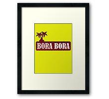 Bora Bora French Polynesia Framed Print