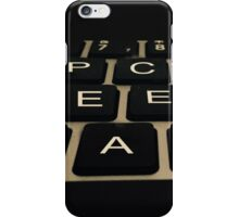 Peace Keyboard iPhone Case/Skin