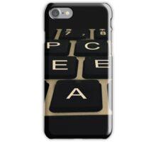 Peace Keyboard iPhone Case/Skin