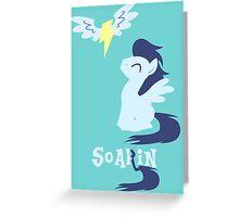 Smiling Soarin Pesasus Greeting Card