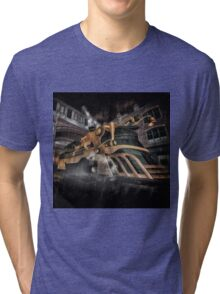 Steampunk Train Tri-blend T-Shirt