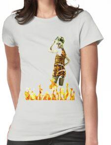 Xanadu Burnin' Hot  Womens Fitted T-Shirt