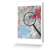 Magnifying Glass Spider Greeting Card