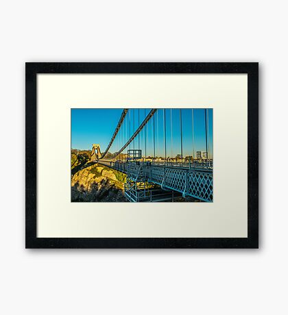 The Clifton Suspension Bridge from the west Framed Print