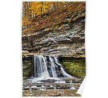 Scenic Autumn Waterfall Poster