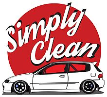 Simply Clean Civic Photographic Print