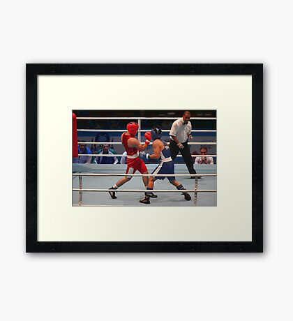 boxing uppercut right hand Framed Print