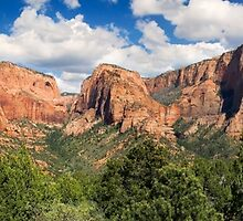 Kolob Canyons Panorama - Zion National Park, Utah by Kenneth Keifer