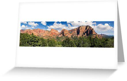 Kolob Canyons Panorama - Zion National Park, Utah by Kenneth Keifer
