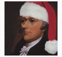 Alexander Hamilton with Santa Hat Kids Tee