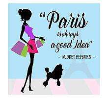 Paris - Audrey Hepburn Photographic Print