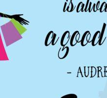 Paris - Audrey Hepburn Sticker
