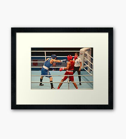 Boxing attack Framed Print