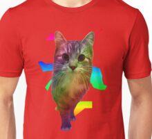 Rainbow Cat With Big Eyes Unisex T-Shirt