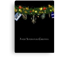 Supernatural Christmas Card  16 Canvas Print