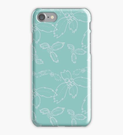 Teal Holly  iPhone Case/Skin