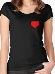 8-Bit Heart Women's Fitted Scoop T-Shirt