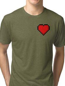 8-Bit Heart Tri-blend T-Shirt