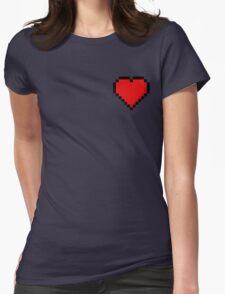 8-Bit Heart Womens Fitted T-Shirt