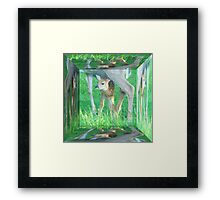 Mamma With Her New Born Baby Framed Print
