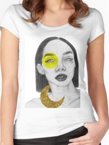gold leaf Women's Fitted Scoop T-Shirt