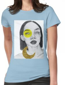 gold leaf Womens Fitted T-Shirt