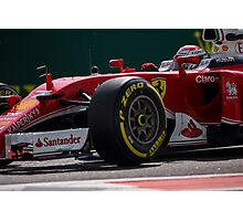 Formula 1 racing cars 2016 Sebastian Vettel  Photographic Print