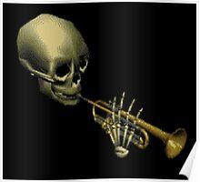 Spooky Skeltal Trumpet Poster