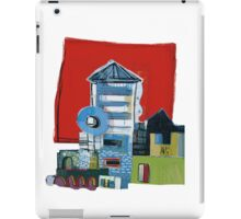 Red Squared Building iPad Case/Skin