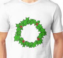 Christmas Wreath Art Unisex T-Shirt