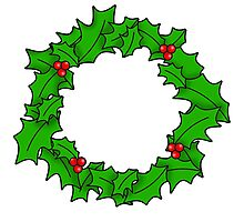 Christmas Wreath Art Photographic Print