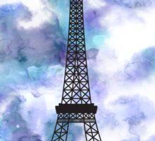 Paris Eiffel Tower Skyline Watercolor Sky Sticker