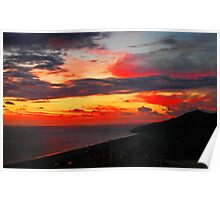 Sunset at Cabo San Lucas in Baja, Mexico Poster