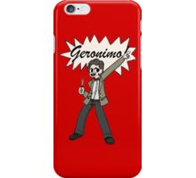 "The 11th Doctor Pilgrim-style--""Geronimo!""  iPhone Case/Skin"