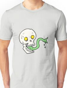 cartoon spooky halloween skull Unisex T-Shirt