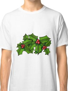 Christmas Holly Art Classic T-Shirt