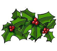 Christmas Holly Art Photographic Print