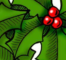 Christmas Holly Art Sticker