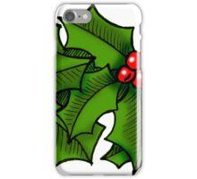 Christmas Holly Art iPhone Case/Skin