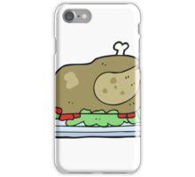 cartoon cooked turkey iPhone Case/Skin