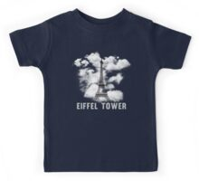 Paris Eiffel Tower Skyline Kids Tee