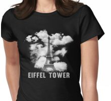 Paris Eiffel Tower Skyline Womens Fitted T-Shirt