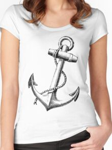 Vintage Anchor Women's Fitted Scoop T-Shirt