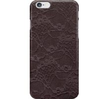 Chocolate lace. iPhone Case/Skin