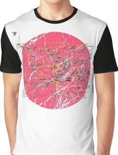 Tokyo Metro Map Japanese City Urban Style T-Shirt by Cyrca Originals Graphic T-Shirt