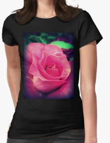 Lonely Pink Rose 1.0 Womens Fitted T-Shirt