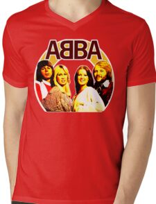 ABBA 1976 mandala design. Made with love! Mens V-Neck T-Shirt