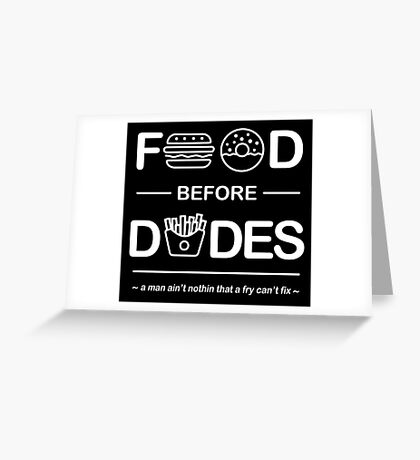 Chris Crocker - Food Before Dudes Tee Greeting Card