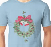 Holly Wreath with Bells Unisex T-Shirt