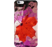 Autumn Maple Leaf ~ on Abstract iPhone Case/Skin